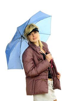 Free Fashion Model With Umbrella Royalty Free Stock Image - 8959186