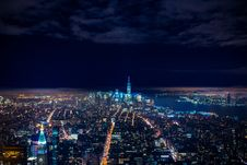 Free City Panorama At Night Stock Images - 89570944