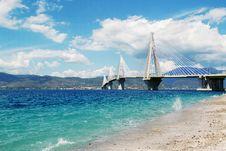 Free Rio Antirrio Bridge Stock Photography - 89572612