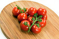Free Cherry Tomatoes On A Wooden Cutting Board Royalty Free Stock Image - 8964596