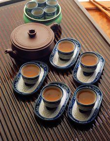 Free Kung Fu Tea Set Stock Image - 8960251