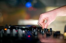 Free Deejays Hand Stock Photography - 8960372