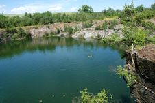 Old Flooded Quarry Stock Photography