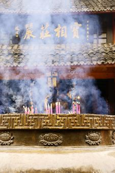 Free Hall Of Buddhism Temple In China Royalty Free Stock Images - 8961049