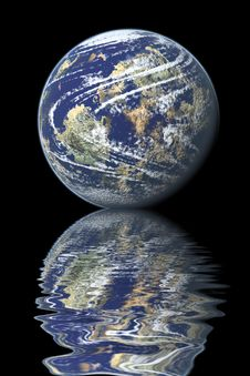 Free Earth Reflected On Water Stock Photos - 8962263