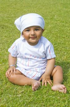 Free Baby On Grass Stock Photos - 8962573