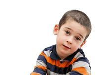 Free Serious Cute Little Boy Stock Photo - 8963240