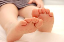 Free Baby Girl , Close-up Of Feet Stock Photos - 8964233