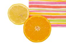 Orange And Lemon Stock Photography