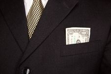Dollar Bill In Businessman S Coat Pocket Stock Images
