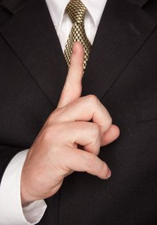 Businessman Gesturing With Hand Royalty Free Stock Images