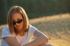 Free Teenage Girl With Sunglasses Stock Photo - 8965290