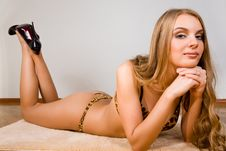 Free Young Woman In Lingerie Royalty Free Stock Images - 8965619
