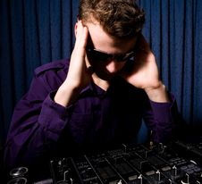 Free Young DJ Indoors Royalty Free Stock Photo - 8965815
