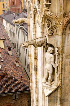 Milan Cathedral Exterior Detail Stock Photo