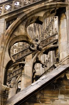 Free Milan Cathedral Butresses Royalty Free Stock Photo - 8965955
