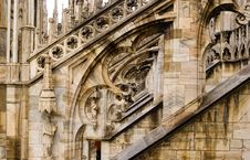 Free Milan Cathedral Butresses Royalty Free Stock Image - 8965956