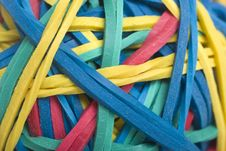 Free Macro Of Colourful Rubber Bands Royalty Free Stock Photos - 8966008