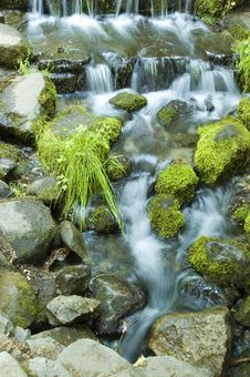 Free Miniature Waterfall And Pond Stock Image - 8966311