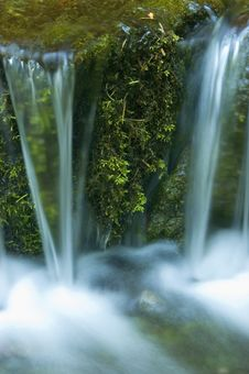 Free Miniature Waterfall And Pond Stock Photo - 8966330