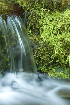 Free Miniature Waterfall And Pond Stock Photography - 8966332