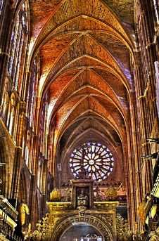 Free Interior Of Leon S Cathedral - Spain. Stock Photo - 8966570