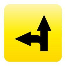 Arrow Web Button Stock Photo