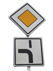 Major Road Traffic Sign Royalty Free Stock Photos