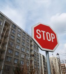 Octagonal Stop Traffic Sign Stock Image