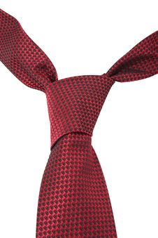 Red Textile Necktie Stock Photo
