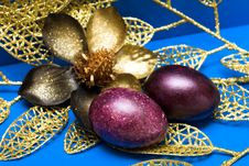 Free Easter Eggs With Flower Stock Photography - 8968802