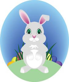 Free Gray Easter Bunny Stock Images - 8969274