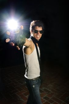 Funky Male Fashion Model Stock Photography
