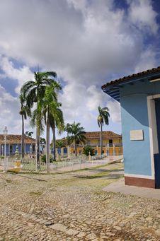 Tropical Town - Trinidad Royalty Free Stock Photos