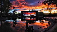 Free Black Digital Camera Taking A Picture During Sunset Stock Photo - 89635010