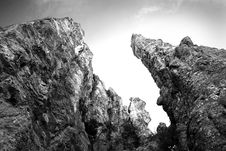 Free Grayscale Photography Of Rock Formation Royalty Free Stock Photography - 89635227