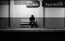 Free Man On Train Platform Stock Photo - 89637940