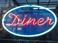 Free Diner Sign - Roland In Vancouver473 Royalty Free Stock Photography - 89689667