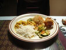 Free Food, White Rice, Tableware, Jasmine Rice Stock Image - 89690361