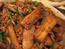 Free Sat09Oct2004Food - Barb S Lamb With Eggplant And Garlic Shoots - 4 Stock Image - 89690761