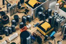 Free Black Transistor Beside Capacitor Stock Image - 89691491