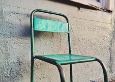 Free Metal Chair Outdoors Stock Image - 89692481