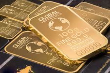 Free Gold Bars Stock Photo - 89693500