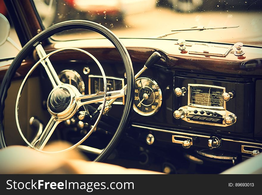 Vintage auto interior