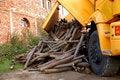 Free Unloading Wood Royalty Free Stock Image - 8970186