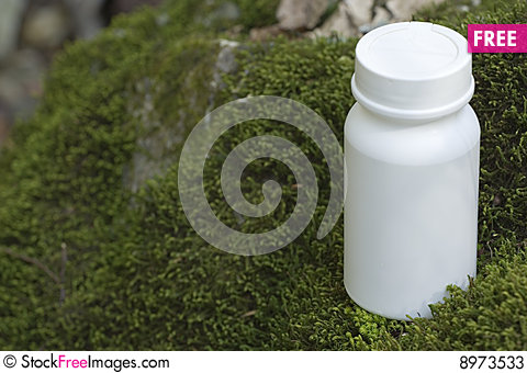 Free Box On The Moss Stock Photos - 8973533