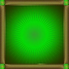Green And Golden  Frame Stock Photography