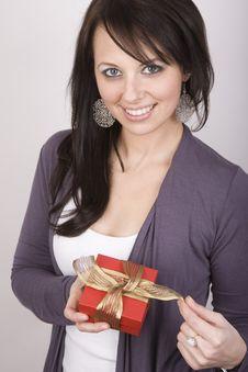 Free Woman Holding Gift Stock Photo - 8970450