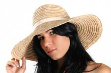 Free Fresh Beauty With Hat Royalty Free Stock Photography - 8970587