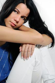 Free Pensive Hispanic Woman Royalty Free Stock Images - 8970609